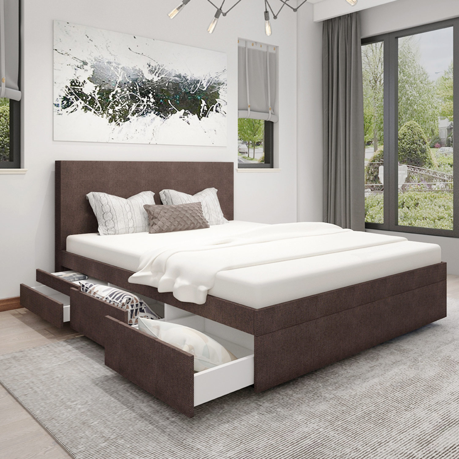 bellvita boxspring wasserbett mit schubladen bellvita wasserbetten onlineshop. Black Bedroom Furniture Sets. Home Design Ideas