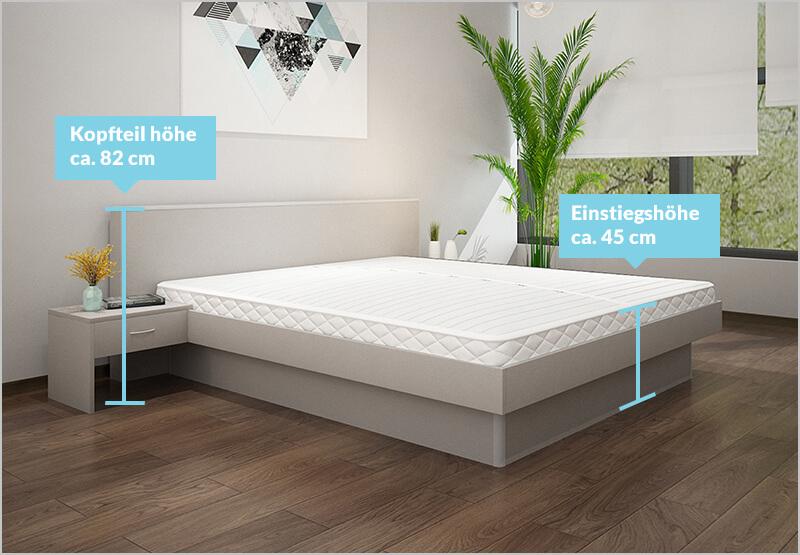 Größen & Längen Wasserbett mit Trendkopfteil