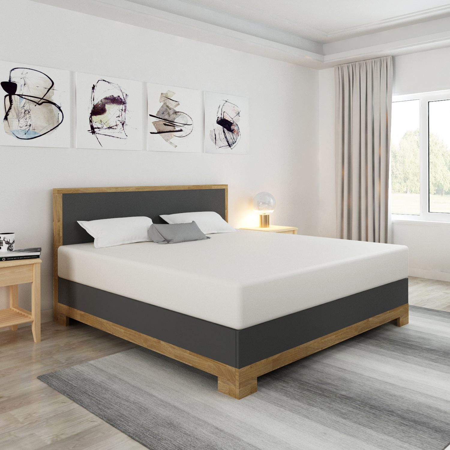 bellvita silverline wasserbett kopenhagen mit edlem echtholz bettrahmen bellvita wasserbetten. Black Bedroom Furniture Sets. Home Design Ideas
