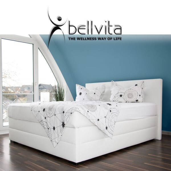 bellvita silverline wasserbett in boxspringbett optik mit mesamoll ii bellvita wasserbetten. Black Bedroom Furniture Sets. Home Design Ideas