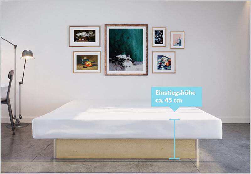 classicline wasserbett mit Unterbau-Sockel