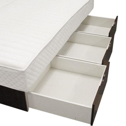 bellvita Wasserbetten Schubladensockel 25cm mit Schubkästen auf Rollen