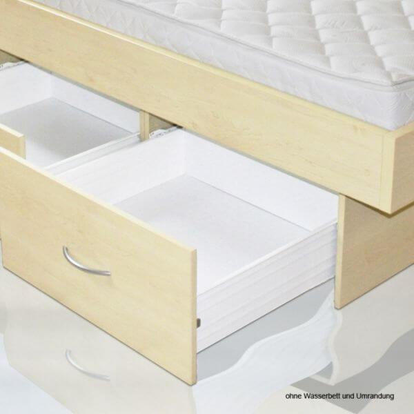 bellvita Wasserbetten Schubladensockel 32cm mit Schubkästen auf Metallauszügen