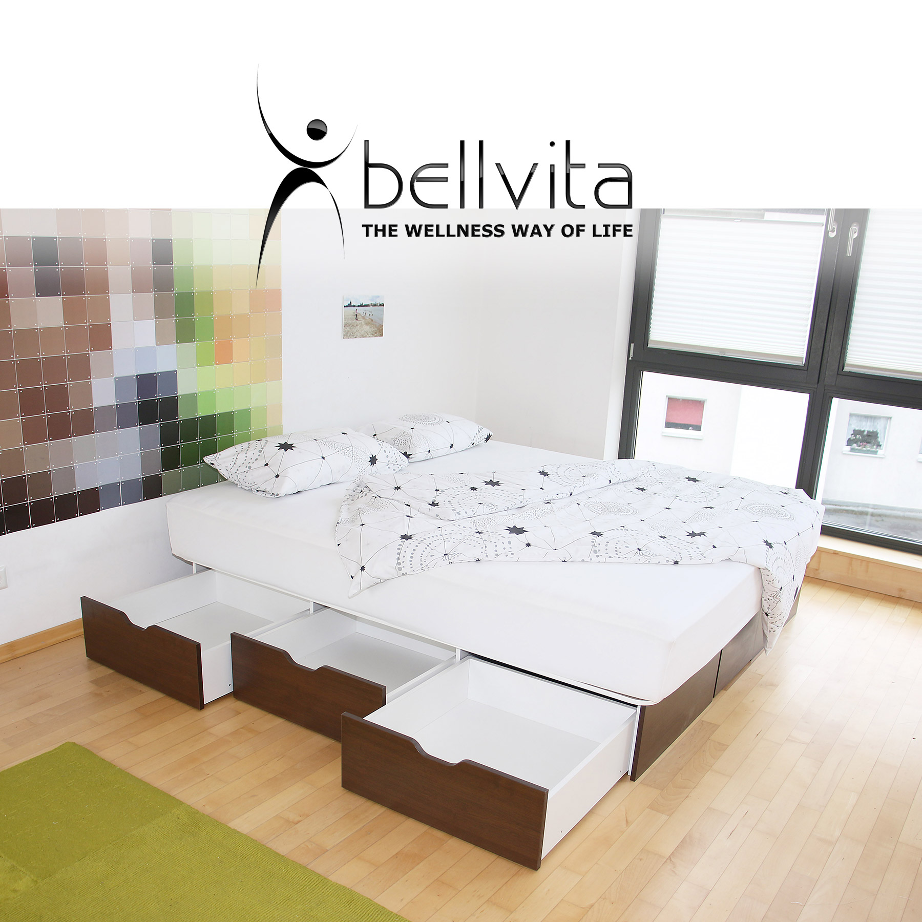 bellvita classicline wasserbett mit schubladensockel. Black Bedroom Furniture Sets. Home Design Ideas