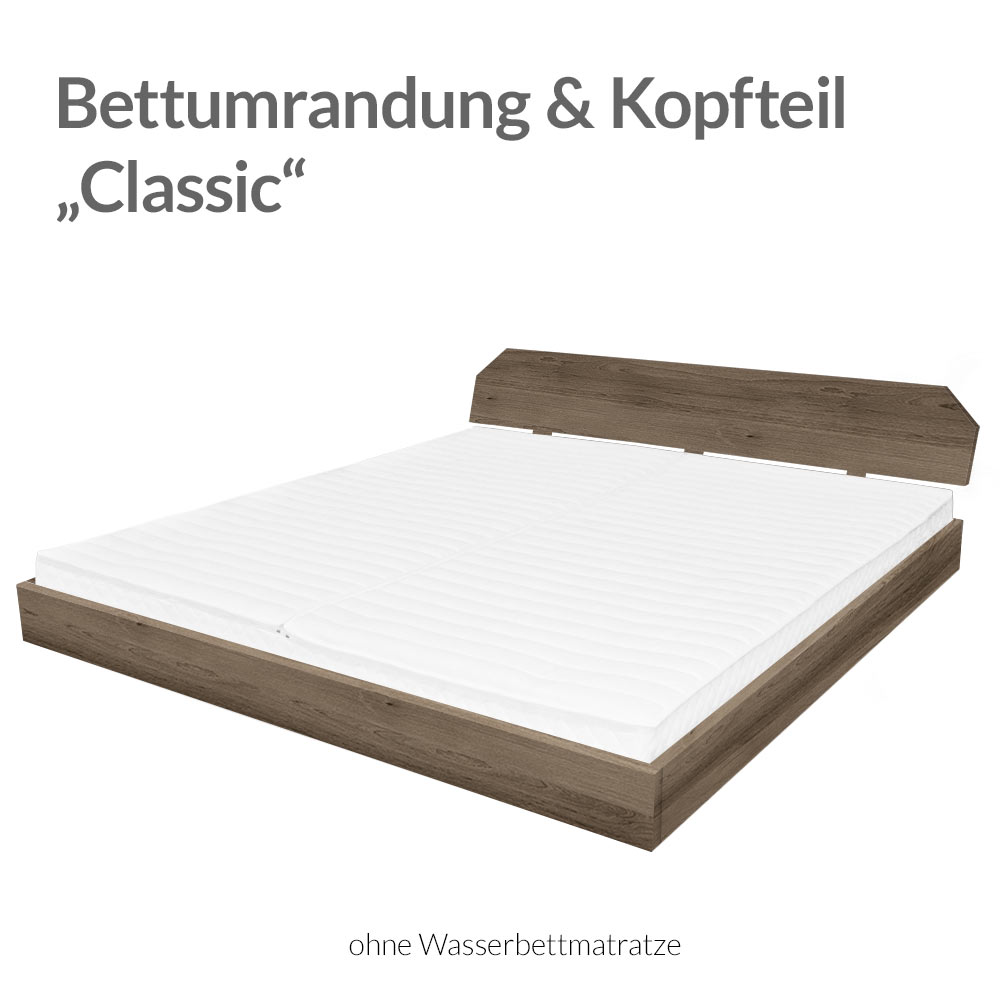 bettrahmen mit kopfteil classic bellvita wasserbetten onlineshop. Black Bedroom Furniture Sets. Home Design Ideas