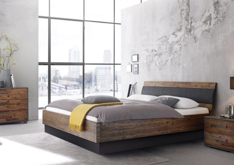 silverline Split Wasserbett Vintage mit Massivholz Rahmen, Kopfteil 55 cm Einstieg