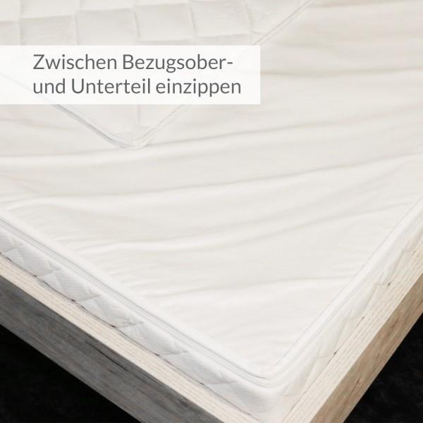 ZIPliner Wasserbett-Staubschutz mit Reißverschluß waschbar bei 30°