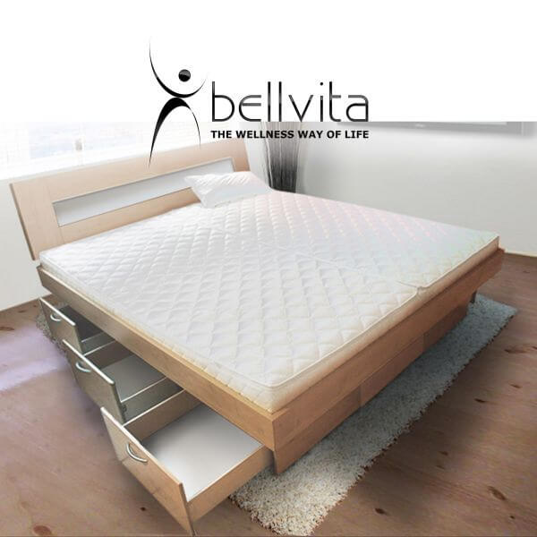 bellvita mesamoll ii wasserbett mit schubladensockel in komforth he bellvita wasserbetten. Black Bedroom Furniture Sets. Home Design Ideas