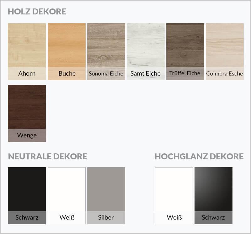 Holz Dekore und Hochglanz Dekore